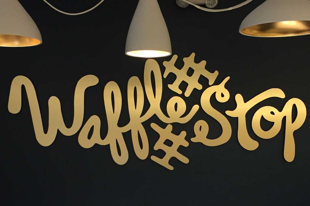 Waffle Stop Interior Sign