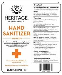 Heritage Distilling Co Hand Santizer