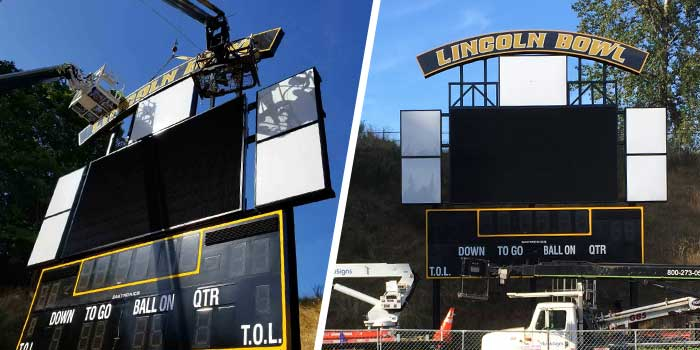 Project of the Month: High School Stadium Signage